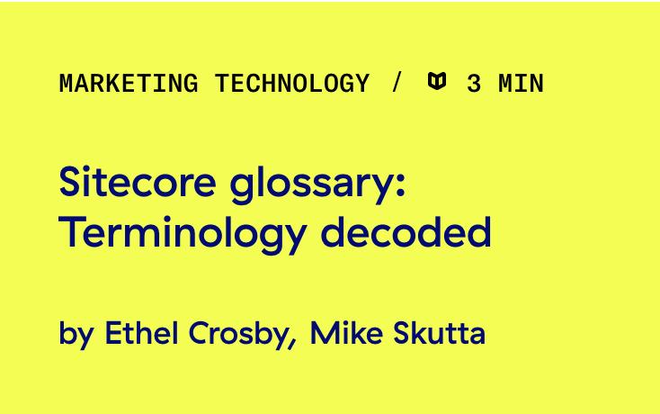 Sitecore-glossary